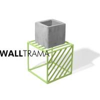 Portamacetas de hierro Wall Trama
